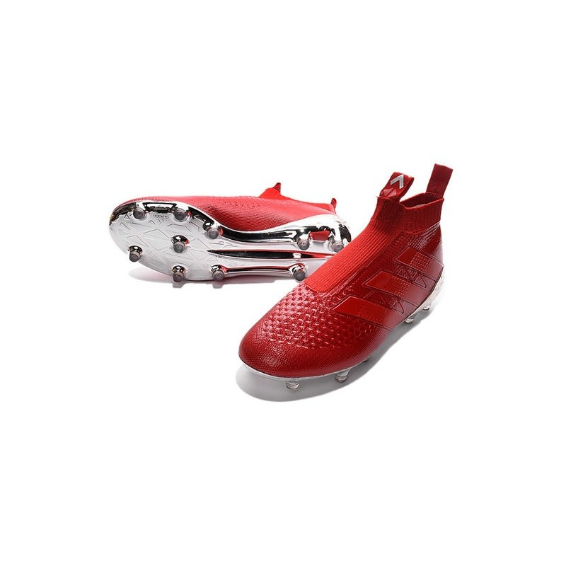 Ace16Purecontrol Fgag 2016 Argenté Rouge Crampons Foot