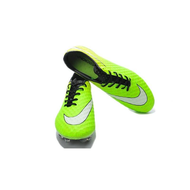 reputable site be77e a005f Nike Hypervenom Phantom FG - Terrain Sec - Chaussures De Football - Vert  Noir Jaune Blanc