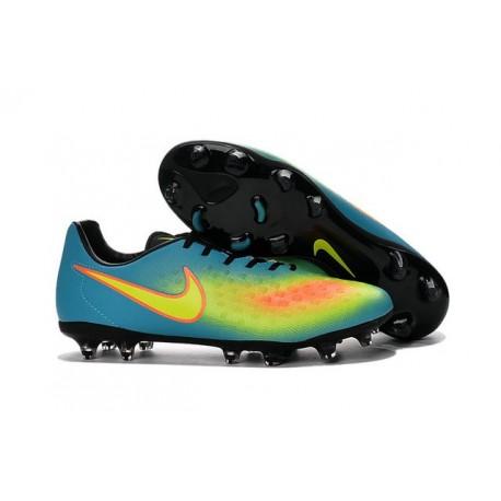 Nike Magista Opus II FG - Terrain Sec -Chaussures De Foot - Bleu Volt Orange