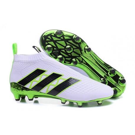 2016 Crampons Foot Adidas Ace16+ Purecontrol FG/AG Vert Blanc Noir
