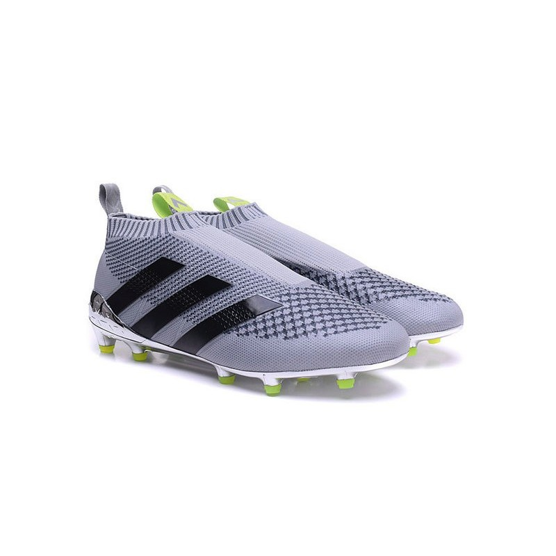 new arrival 999c1 df219 2016 Crampons Foot Adidas Ace16+ Purecontrol FGAG Argenté No