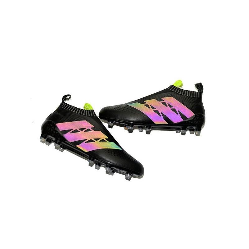 new style 9d741 79fde 2016 Crampons Foot Adidas Ace16+ Purecontrol FGAG Noir Jaune