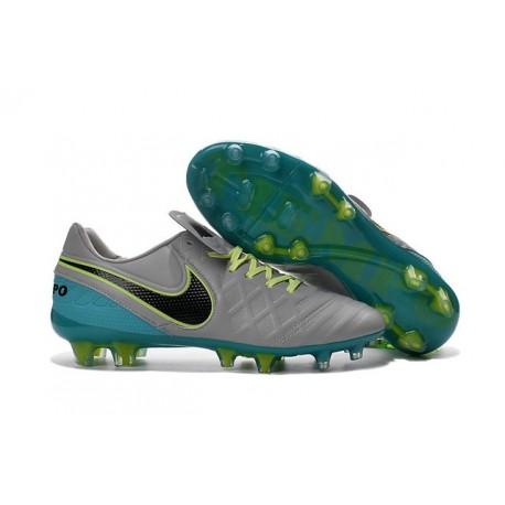 Chaussures de football Nike Tiempo Legend 6 FG Hommes Gris Loup Noir Jade