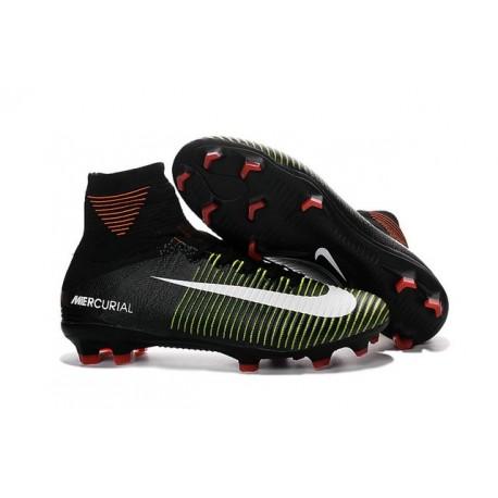Chaussures Nike - Crampons de Footabll Homme - Nike Mercurial Superfly 5 FG Noir Violet Volt