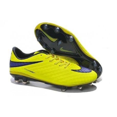 Chaussures De Foot Hommes - Nike Hypervenom Phantom Prem FG - Jaune Violet