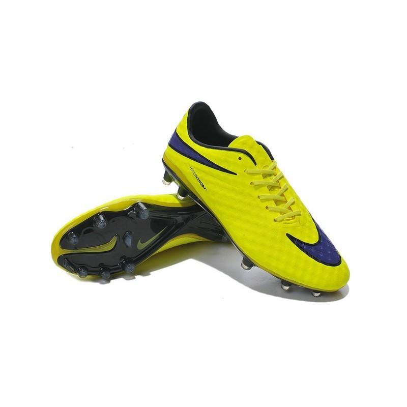 free shipping 1718a 0ae9c Chaussures De Foot Hommes - Nike Hypervenom Phantom Prem FG - Jaune Violet