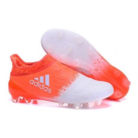 Nouveau Crampons - Adidas X 16+ Purechaos FG Blanc Orange