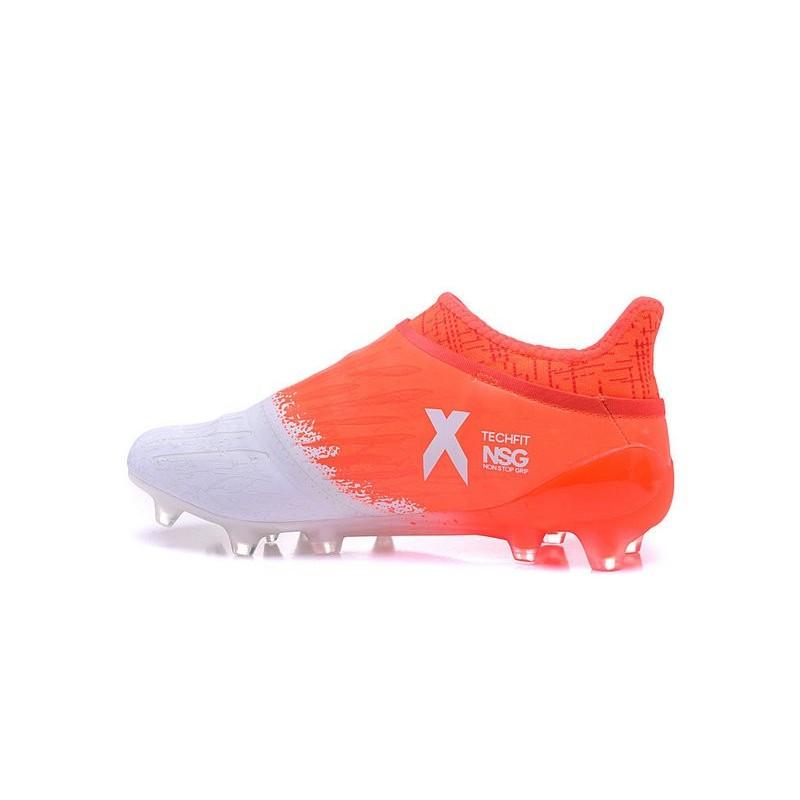 Nouveau Blanc Adidas X 16Purechaos Orange Crampons Fg TKFJlc1