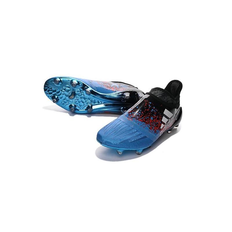 best authentic ac01d 143d4 Chaussures Homme - Adidas X 16+ Purechaos FG Bleu Noir Rouge