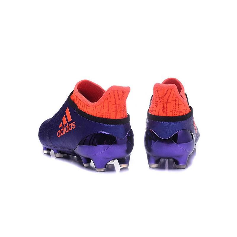 new products 7f17f 69edf Nouvelles Crampons Adidas X 16+ Purechaos FGAG Violet Orange