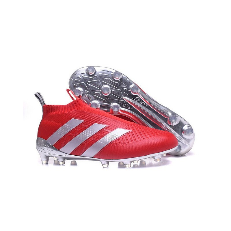 Rouge 2016 Adidas Fgag Crampons Foot Ace16Purecontrol Argenté vN0w8Omn