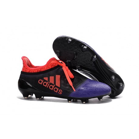 Nouvelles Crampons Adidas X 16+ Purechaos FG/AG Noir Violet Orange