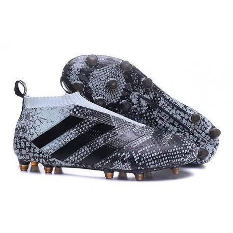 2016 Crampons Foot Adidas Ace16+ Purecontrol FG/AG Vert Noir