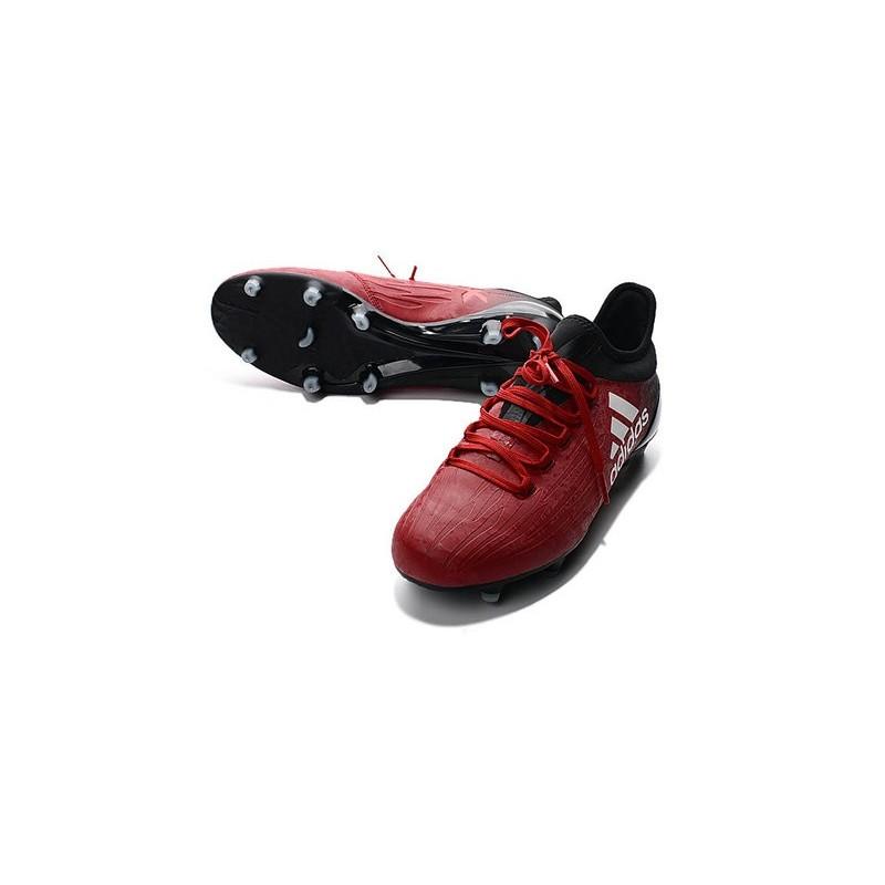 new style 5686c 5b7d0 Chaussures de football Adidas X 16.1 AG FG Pas Cher Rouge Blanc Noir Zoom.  Précédent. Suivant