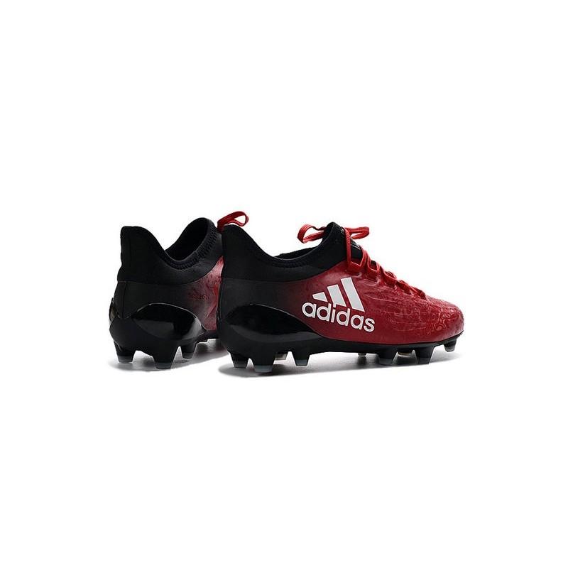43cd335dba0 Chaussures de football Adidas X 16.1 AG FG Pas Cher Rouge Blanc Noir Zoom.  Précédent. Suivant