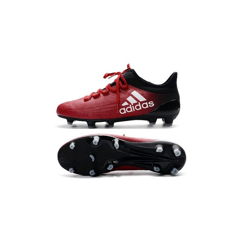 e6caa8712de Chaussures de football Adidas X 16.1 AG FG Pas Cher Rouge Blanc Noir
