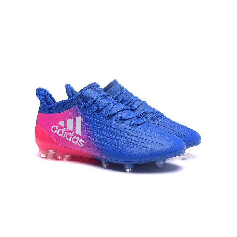 differently e0f99 c3ee8 Adidas X 16.1 AGFG - Crampons foot Nouveau Bleu Rose Blanc