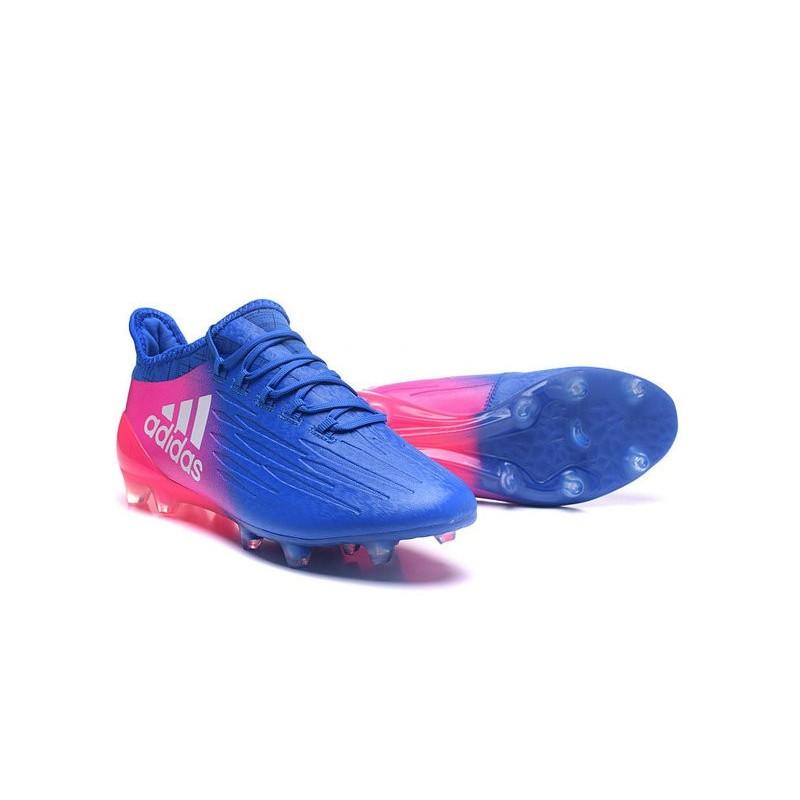 best website 542e4 ad824 Adidas X 16.1 AG FG - Crampons foot Nouveau Bleu Rose Blanc
