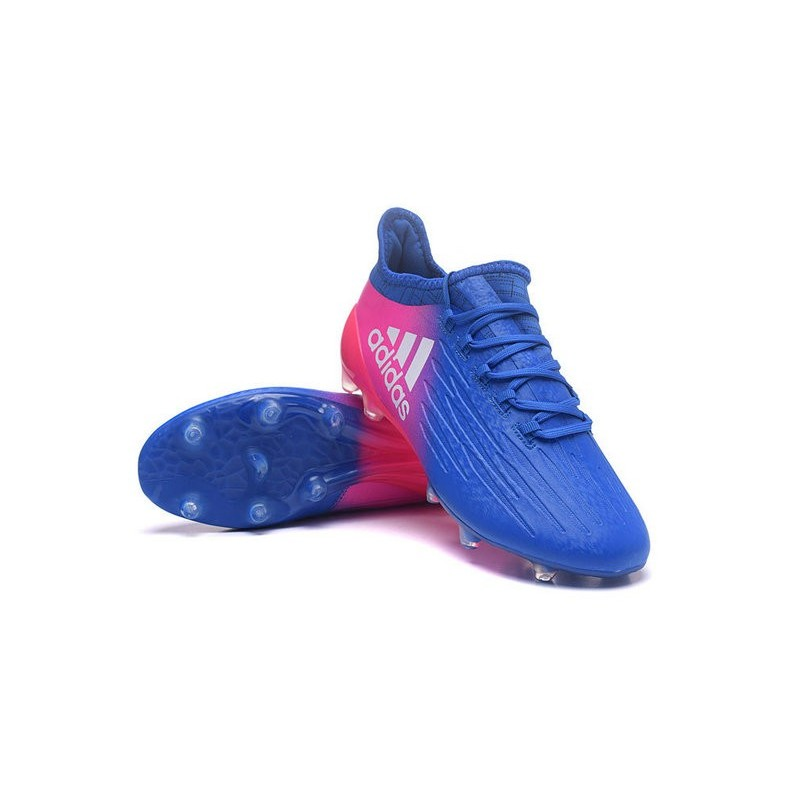 best website 3c584 3cfba Adidas X 16.1 AG FG - Crampons foot Nouveau Bleu Rose Blanc