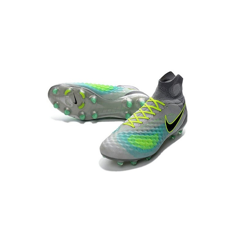 best website cf303 13dae Chaussures de football - Nouveau Nike - Magista Obra II FG Platine Noir Vert