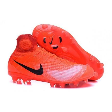 Chaussures de football - Nouveau Nike - Magista Obra II FG Orange Noir