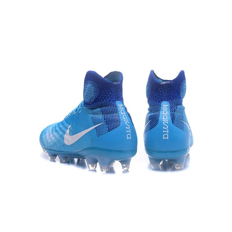 sports shoes 705f4 33969 ... Nike - Magista Obra II FG Bleu Blanc Zoom. Précédent. Suivant