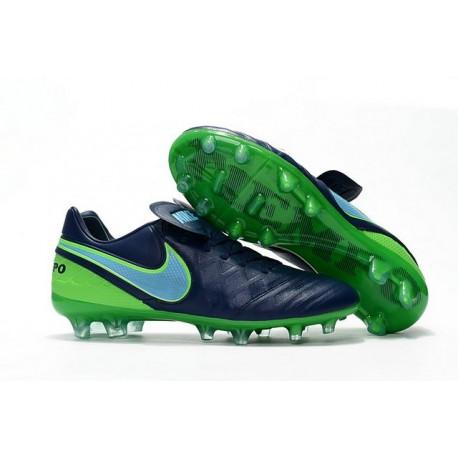 Chaussures de football Nike Tiempo Legend 6 FG Hommes Bleu Mer Bleu Vert