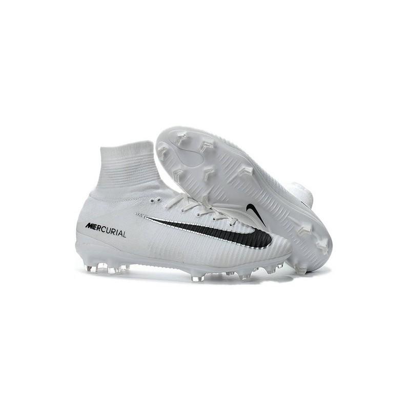 6ebc1eda5 Nike Mercurial Superfly 5 FG - Chaussures de Football 2016 Blanc Noir