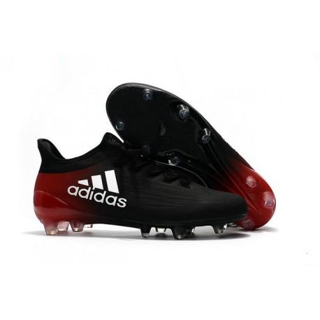 Adidas X 16.1 AG/FG - Crampons foot Nouveau Noir Blanc Rouge