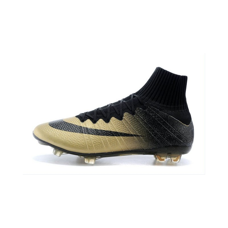 chaussures pas cher nike mercurial superfly fg noir or. Black Bedroom Furniture Sets. Home Design Ideas