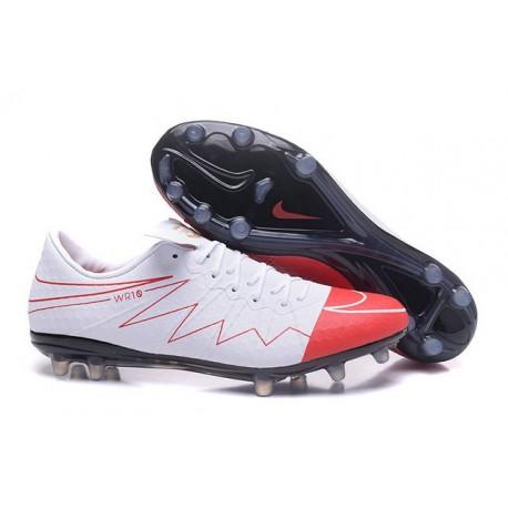 Nouveau Nike Hypervenom Phinish II FG Chaussure Homme Wayne Rooney Blanc Rouge Noir