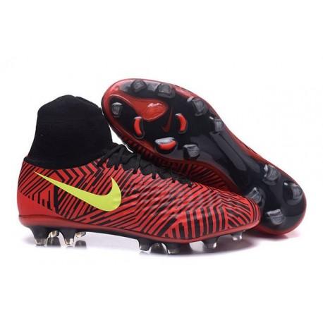 Hommes Chaussures Nike Magista Obra II FG Noir Rouge Jaune