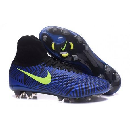 Nouveau Crampons Nike Magista Obra II FG Bleu Noir Volt