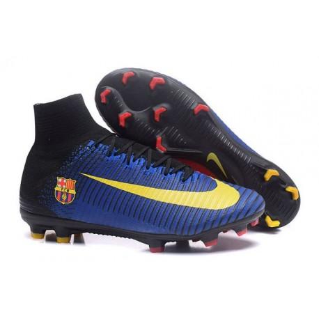 Nike Mercurial Superfly 5 FG - Chaussures de Football 2016 Barcelona FC Bleu Rouge Jaune Noir