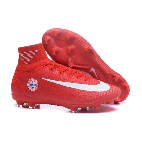 Nike Mercurial Superfly 5 FG - Chaussures de Football 2016 FC Bayern München Rouge Blanc