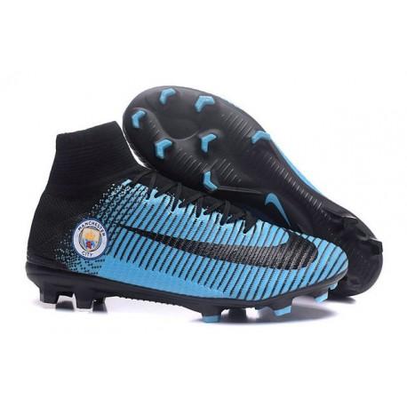 Nike Mercurial Superfly 5 FG - Chaussures de Football 2016 Manchester City FC Noir Bleu