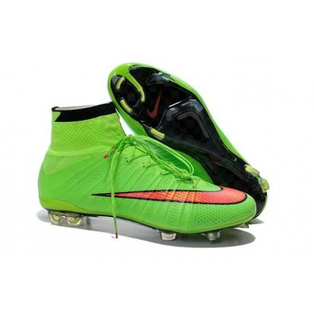 Chaussures Pas Cher Nike Mercurial Superfly FG - Vert Hyper Punch Noir