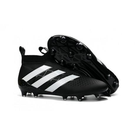 Nouvelles Crampons Foot Adidas Ace16+ Purecontrol FG/AG Noir Blanc