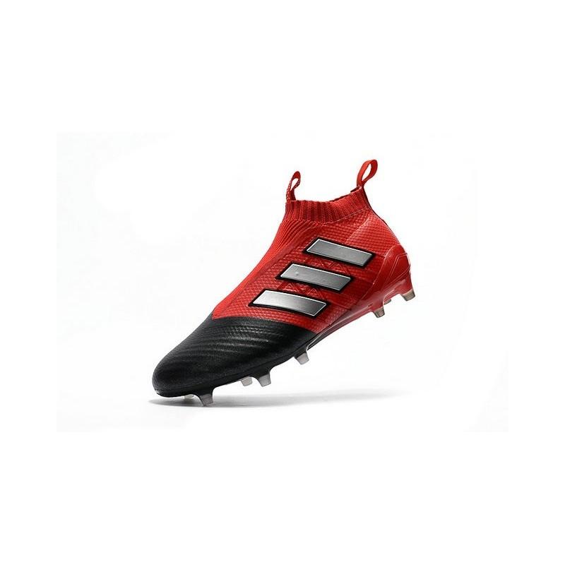 Adidas Ace17+ Purecontrol FGAG Chaussures de Football Pour Homme Blanc Rouge Noir
