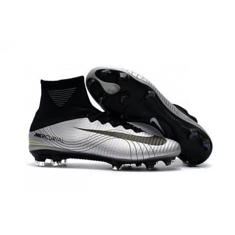 Nouvelles Nike Mercurial Superfly 5 FG - Chaussures de Football Argent Noir