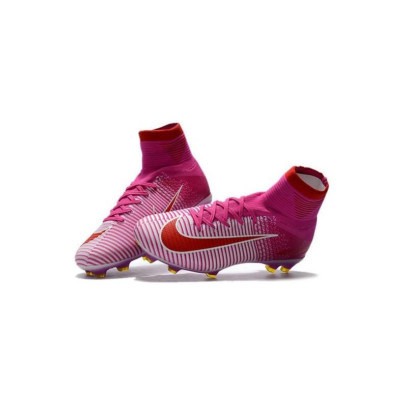 chaussure de foot nike rouge et rose