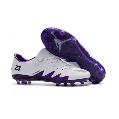 Nouveau Nike Hypervenom Phinish II FG Chaussure Homme Violet Blanc
