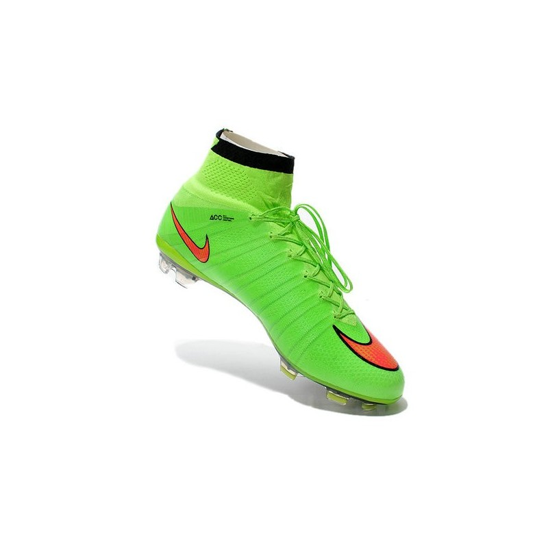 purchase cheap 7e7d5 6f29f Chaussures Pas Cher Nike Mercurial Superfly FG - Vert Hyper