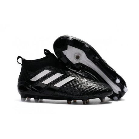 Chaussures de Foot Adidas ACE 17+ Purecontrol FG 2017 Noir Blanc