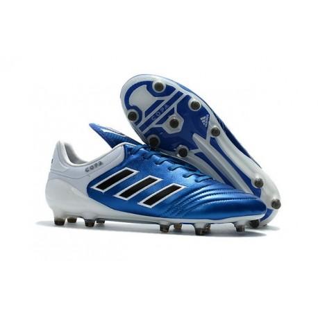 Chaussures Football Adidas Copa 17+ FG Pas Cher Bleu Blanc Noir