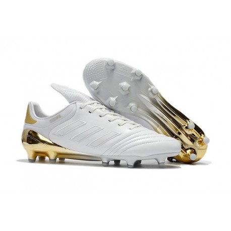 Nouveaux Crampons Football Adidas Copa 17.1 FG Hommes Or Blanc