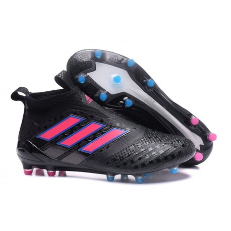 Chaussure de Foot Adidas ACE 17+ Purecontrol FG 2017 Noir Rose Bleu