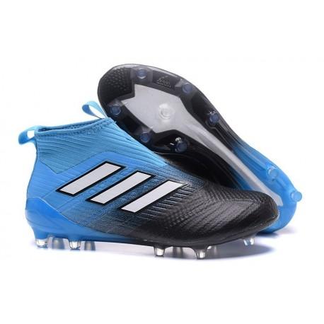 Chaussure Adidas ACE 17+ Purecontrol FG -  Noir Bleu