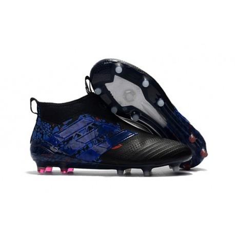 Chaussure de Foot Adidas ACE 17+ Purecontrol FG 2017 Dragon Noir Bleu