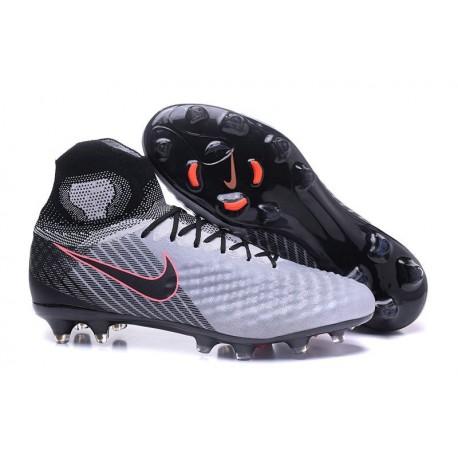 Chaussures de Foot Nike Magista Obra II Tech Craft FG Noir Gris